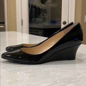Cole Haan black patent wedge heels